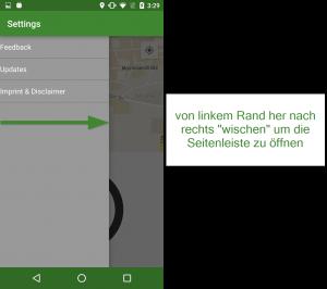 """Solltet es auf eurem Smartphone zu Fehlern kommen, könnt ihr ganz einfach über den Slider (vom rechten Linken Rand nach rechts wischen) unter """"Feedback"""" automatisch eure Geräteinfo mit einer kurzen Fehlerbeschreibung an uns weiterleiten"""