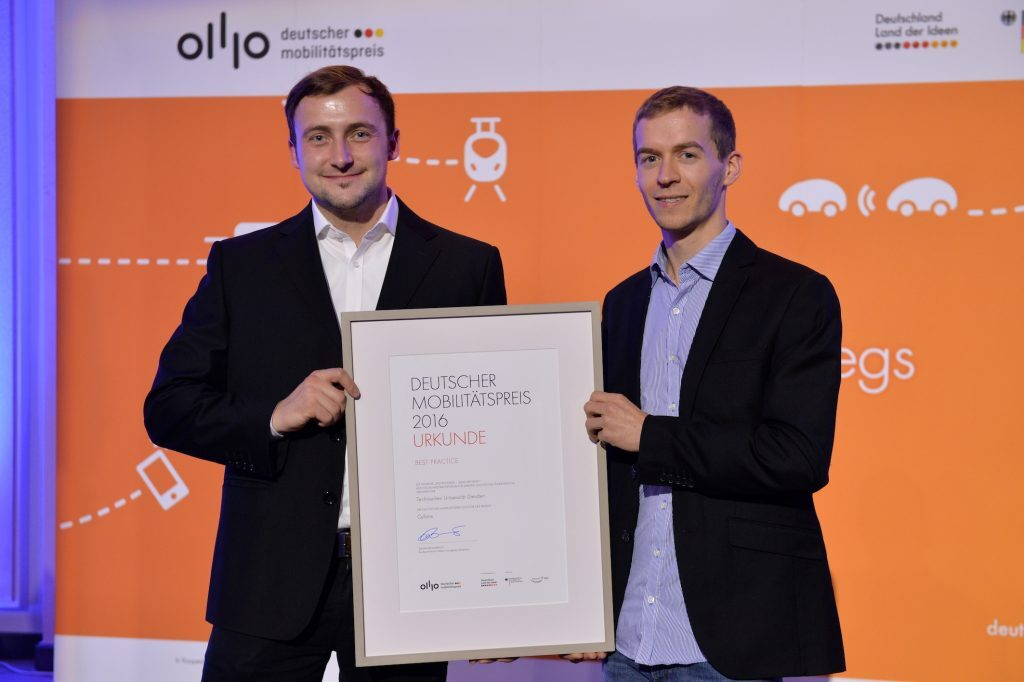 Am 19. Oktober 2016 fand die Preisverleihung des Deutschen Mobilitätspreises im Bundesministerium für Verkehr und digitale Infrastruktur statt.