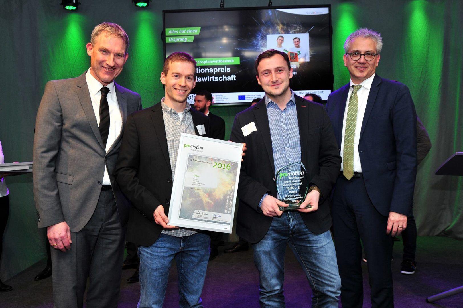 Cyface gewinnt Innovationspreis Mobilitätswirtschaft