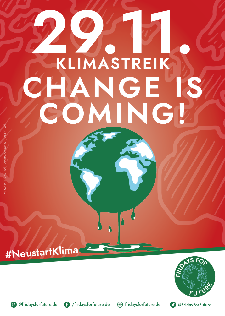 Change is Coming! Klimastreik am 29.11.